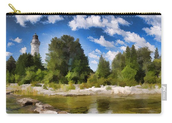 Door County Cana Island Lighthouse Panorama Carry-all Pouch