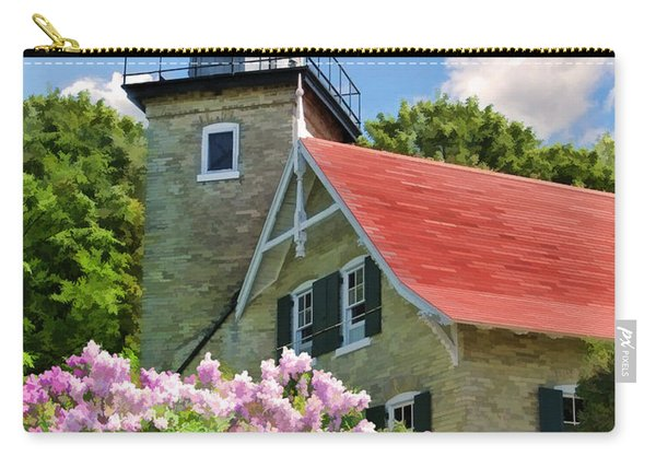 Door County Eagle Bluff Lighthouse Lilacs Carry-all Pouch