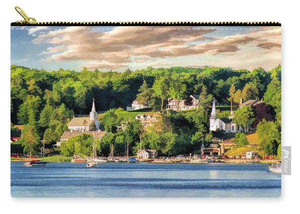 Door County Ephraim Harbor Sunset  Panorama Carry-all Pouch