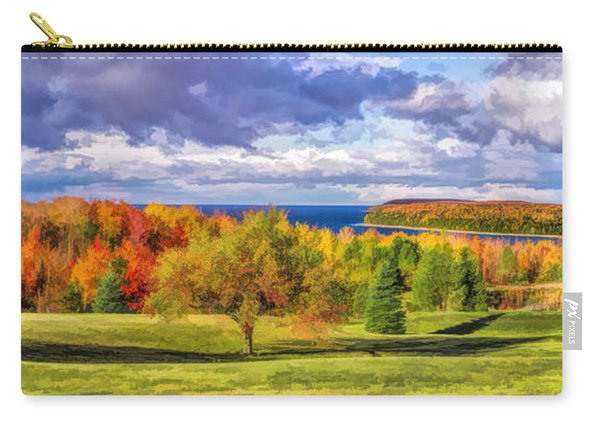 Door County Grand View Scenic Overlook Panorama Carry-all Pouch