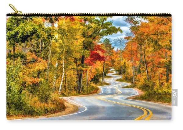 Door County Road To Northport In Autumn Carry-all Pouch
