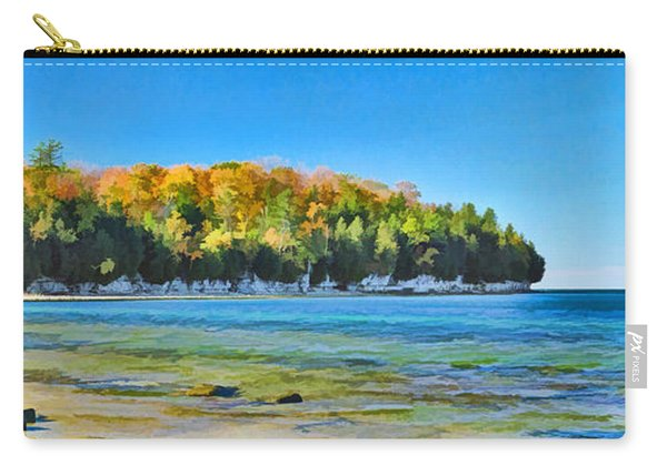 Door County Wisconsin Bay Panorama Carry-all Pouch