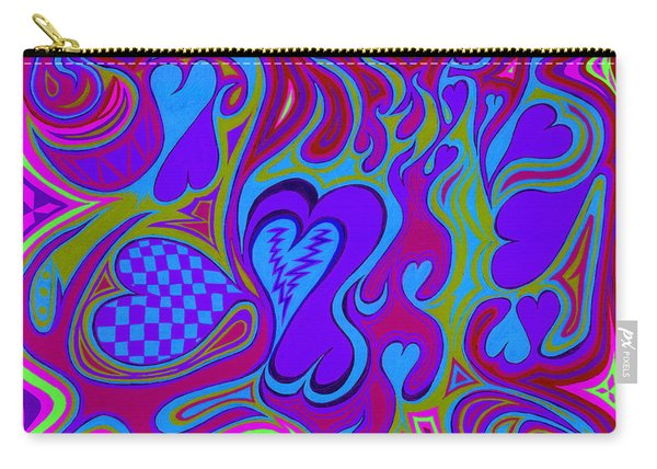 Double Broken Heart Carry-all Pouch