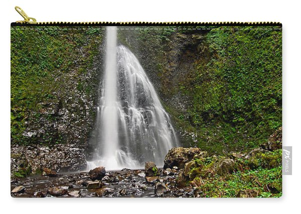 Double Falls In Silver Falls State Park In Oregon Carry-all Pouch