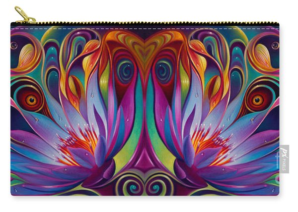 Double Floral Fantasy Carry-all Pouch