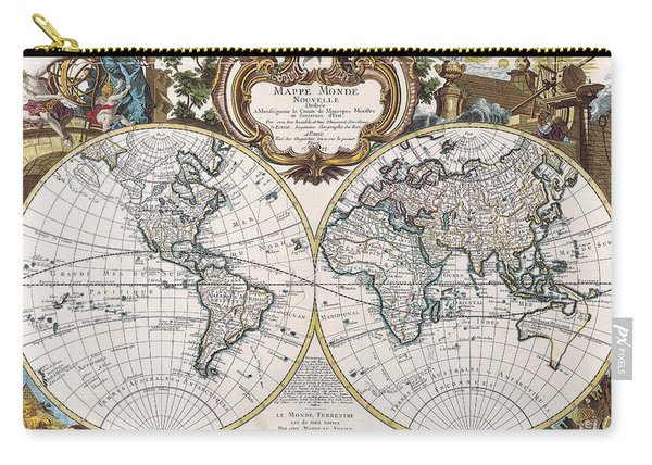 Double Hemisphere Map 1744 Carry-all Pouch
