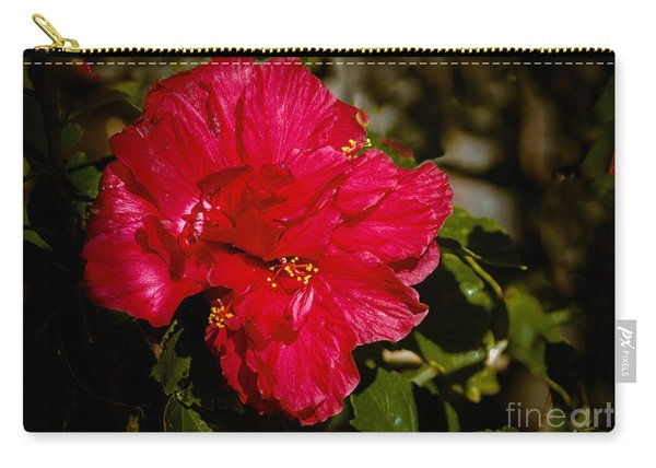 Double Hibiscus Carry-all Pouch
