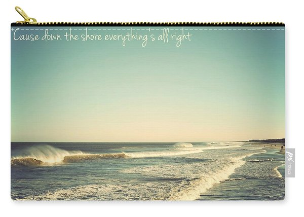 Down The Shore Seaside Heights Vintage Quote Carry-all Pouch