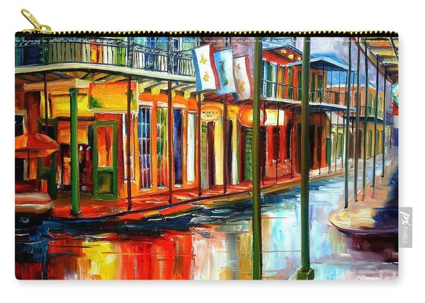 Downpour On Bourbon Street Carry-all Pouch