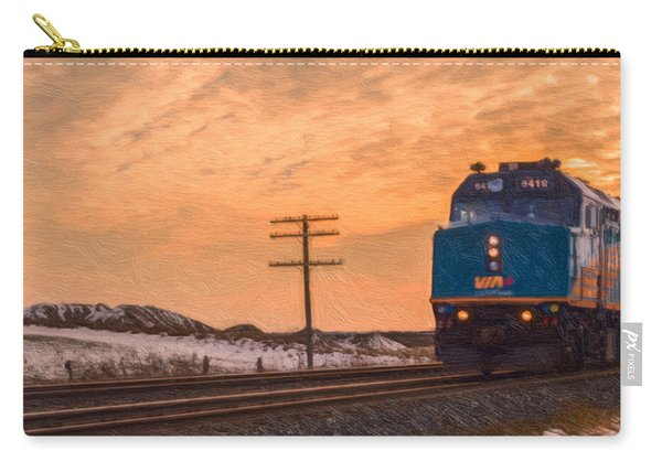 Carry-all Pouch featuring the photograph Downtown Train by Garvin Hunter