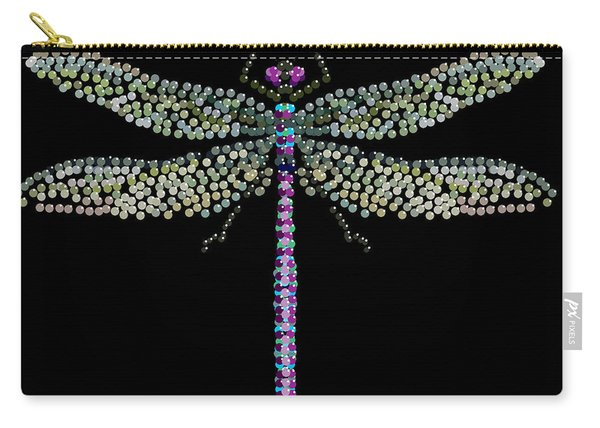 Dragonfly Bedazzled Carry-all Pouch