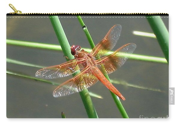 Dragonfly Orange Carry-all Pouch