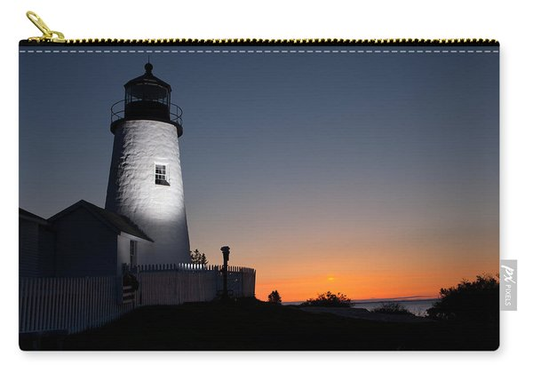 Dramatic Lighthouse Sunrise Carry-all Pouch