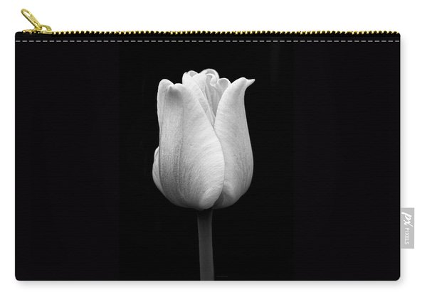 Dramatic Tulip Flower Black And White Carry-all Pouch