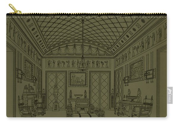 Drawing Room With Egyptian Decoration Carry-all Pouch