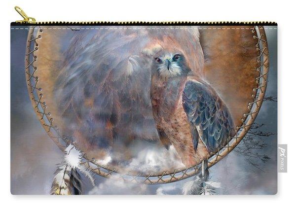 Dream Catcher - Hawk Spirit Carry-all Pouch