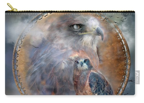 Dream Catcher - Hawk Spirit Carry-all Pouch