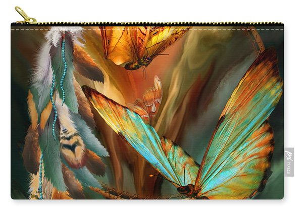 Dream Catcher - Spirit Of The Butterfly Carry-all Pouch