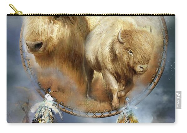 Dream Catcher - Spirit Of The White Buffalo Carry-all Pouch