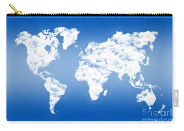 Dreamer World Map Carry-all Pouch
