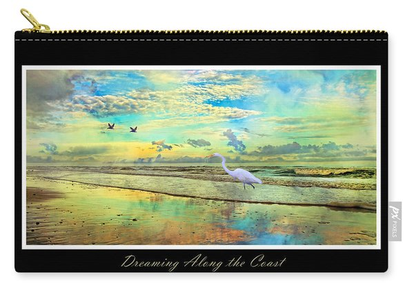 Dreaming Along The Coast -- Egret  Carry-all Pouch