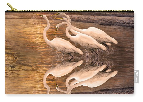 Dreaming Of Egrets By The Sea Reflection Carry-all Pouch