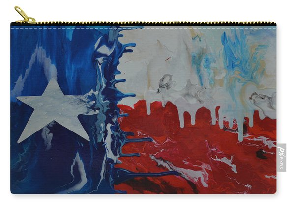 Drips Of Texas Color Carry-all Pouch