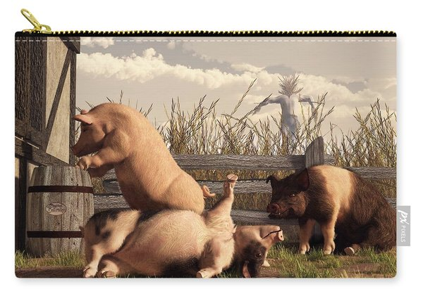 Drunken Pigs Carry-all Pouch