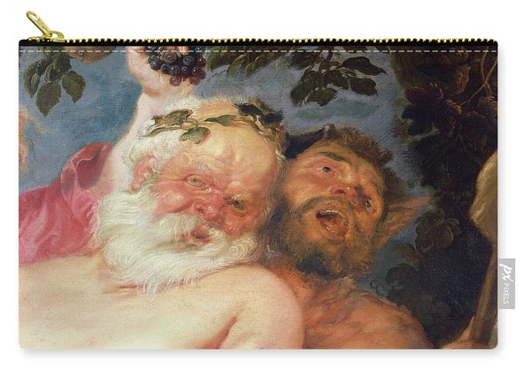 Drunken Silenus Supported By Satyrs Carry-all Pouch