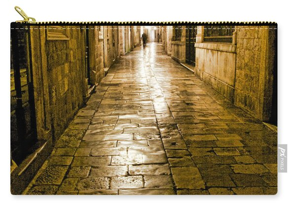 Dubrovnik Streets At Night Carry-all Pouch
