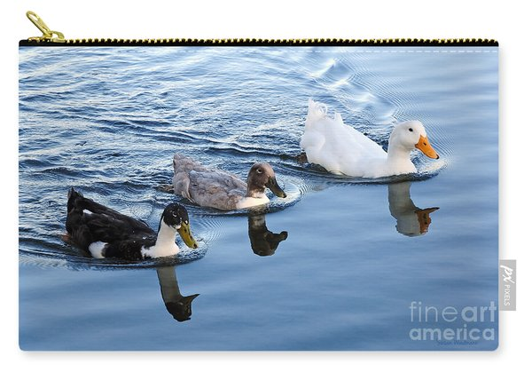 Duck Trio Reflecting Carry-all Pouch