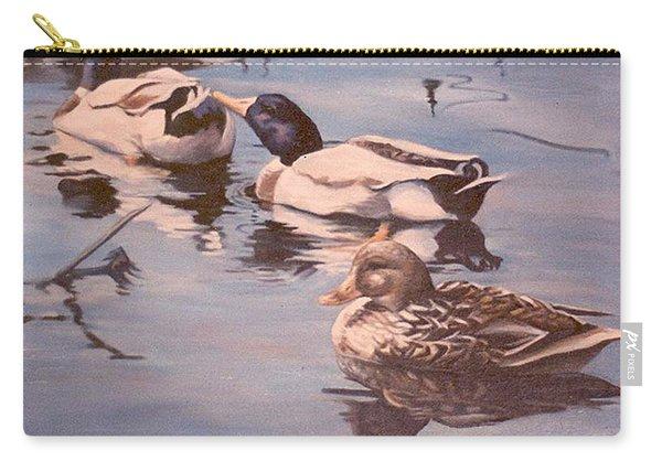 Ducks On The Cachuma Carry-all Pouch
