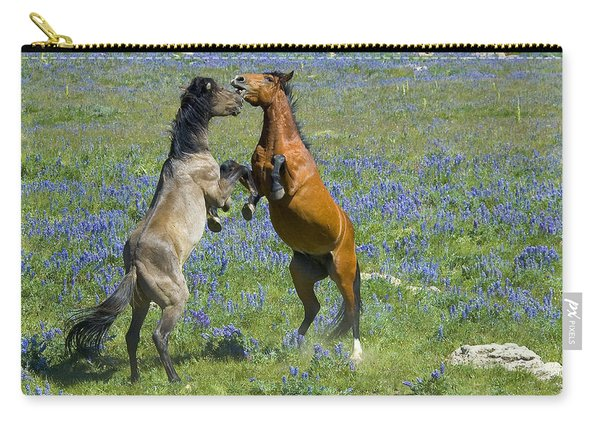 Dueling Mustangs Carry-all Pouch