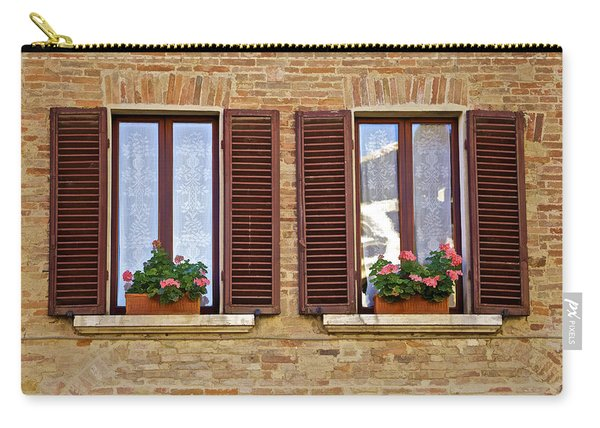 Dueling Windows Of Tuscany Carry-all Pouch