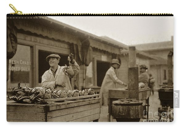 Dungeness Crabs At Fisherman's Wharf At San Francisco California. Circa 1935 Carry-all Pouch