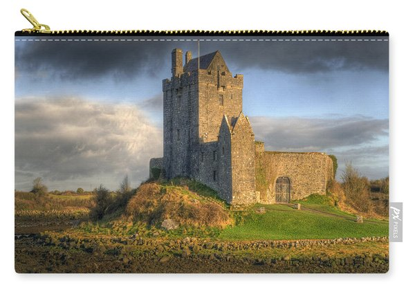 Dunguaire Castle With Dramatic Sky Kinvara Galway Ireland Carry-all Pouch
