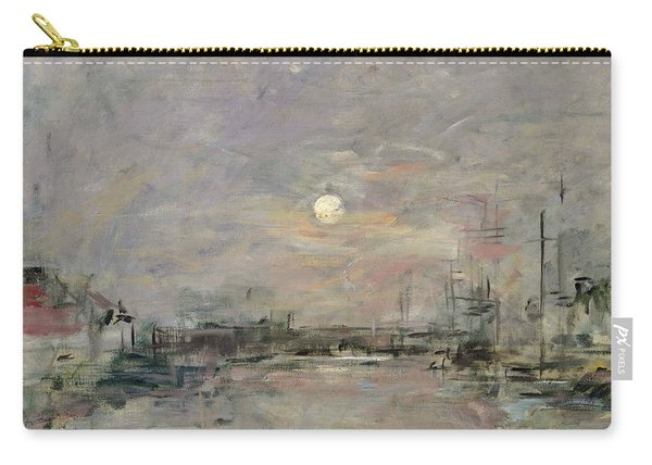 Dusk On The Commercial Dock At Le Havre Carry-all Pouch