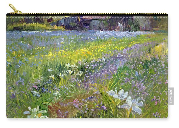 Dwarf Irises And Cottage Carry-all Pouch