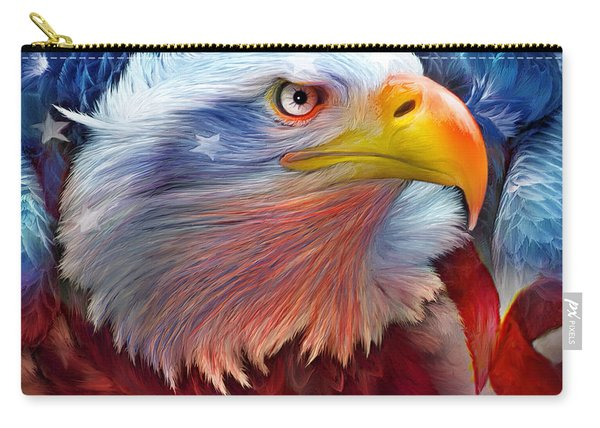 Eagle Red White Blue Carry-all Pouch