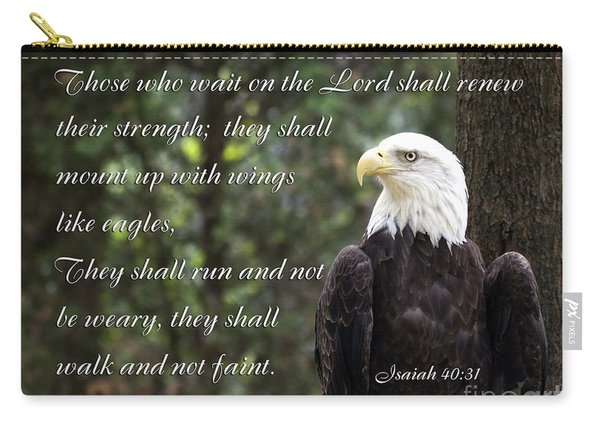 Eagle Scripture Isaiah Carry-all Pouch