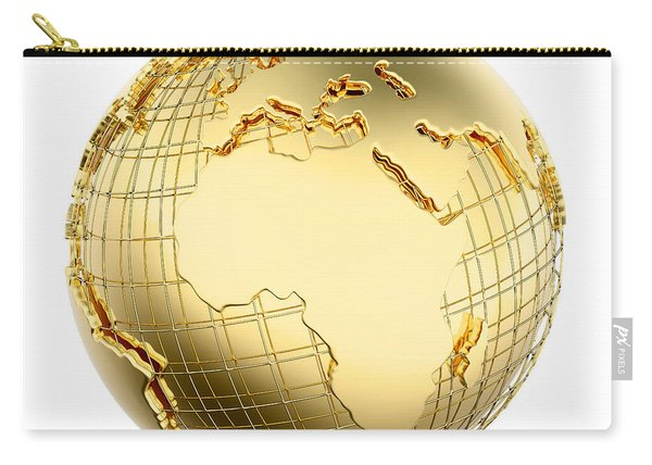 Earth In Gold Metal Isolated - Africa Carry-all Pouch