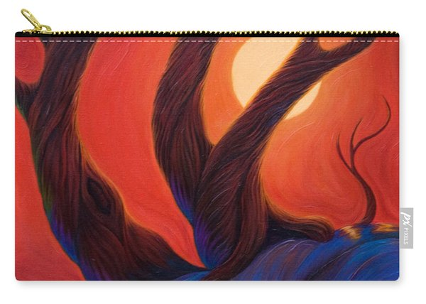 Carry-all Pouch featuring the painting Earth  Wind  Fire by Sandi Whetzel