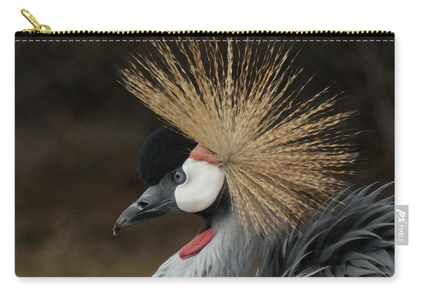 East African Crowned Crane 2 Painterly Carry-all Pouch