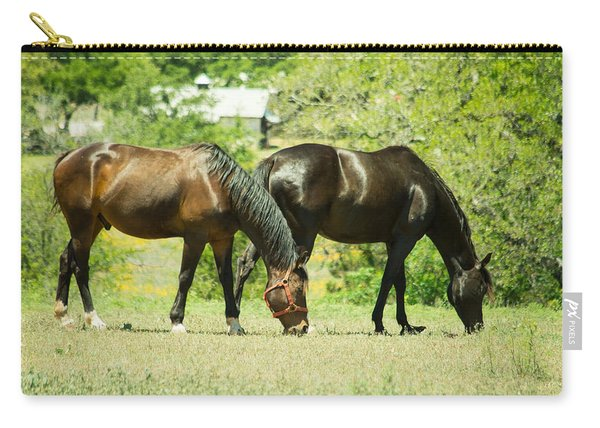 East Of Marble Falls Horses Carry-all Pouch