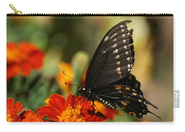 Eastern Swallowtail On Marigold Carry-all Pouch