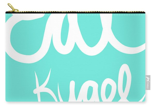 Eat Kugel - Blue And White Carry-all Pouch