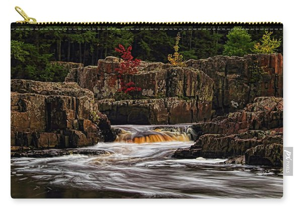 Waterfall Under Colored Leaves Carry-all Pouch