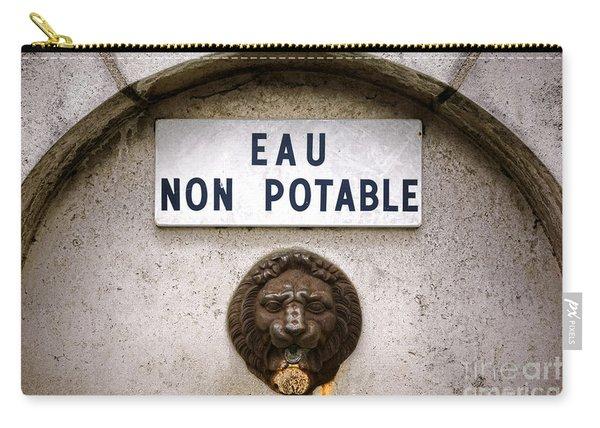Eau Non Potable Carry-all Pouch