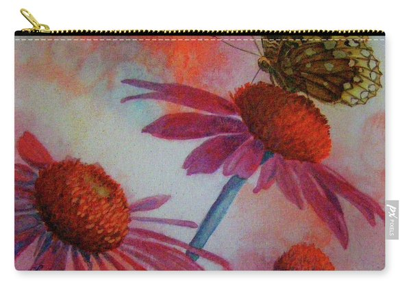 Echinacea Fritillaria Carry-all Pouch
