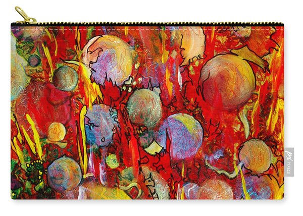 Carry-all Pouch featuring the painting Effervesce by Nancy Cupp